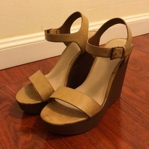 Forever 21 Tan Wedges in size 7.5